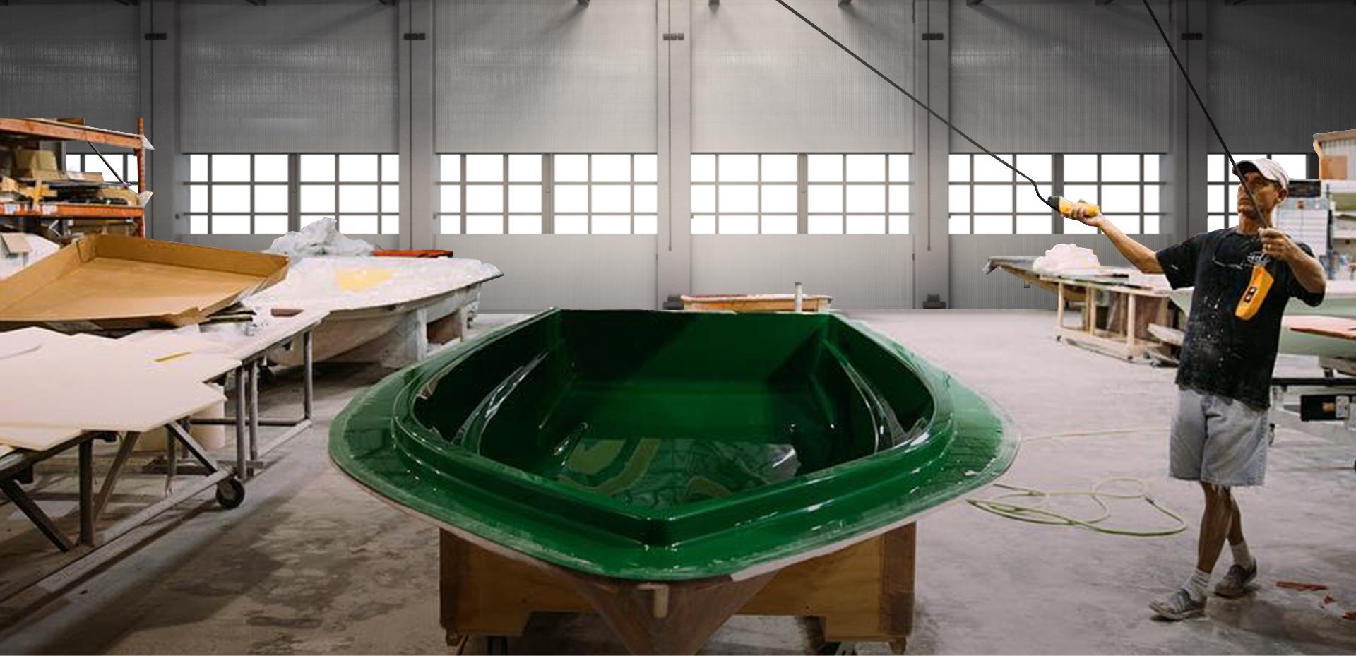 construction of a skiff hull at the hellsbay warehouse