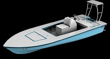 skiff - biscayne 3d render