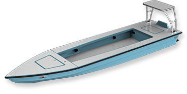 skiff - glades skiff 3d render