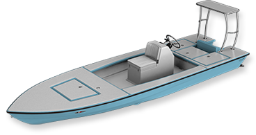 skiff - professional 3d render