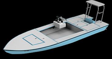 skiff - waterman 3d render
