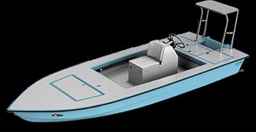 skiff - whipray 3d render