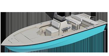 skiff - estero 3d render